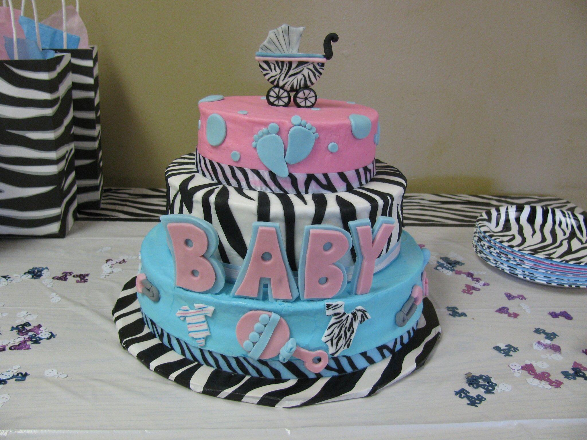 gender reveal baby shower cake my cakes pinterest
