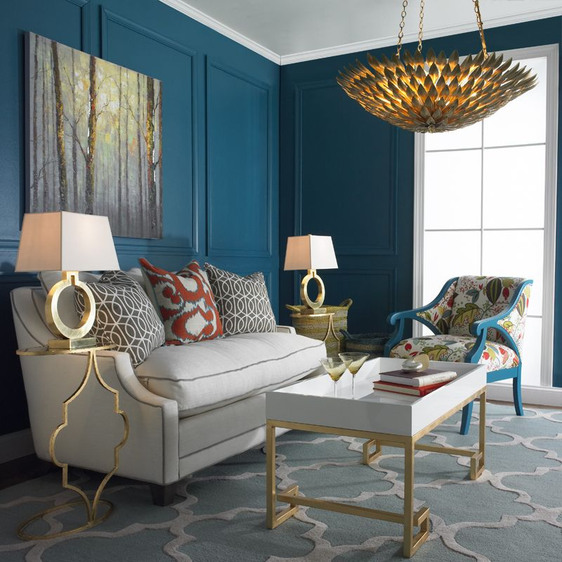 Golden Touch Shades Of Light Blue Rooms Pinterest