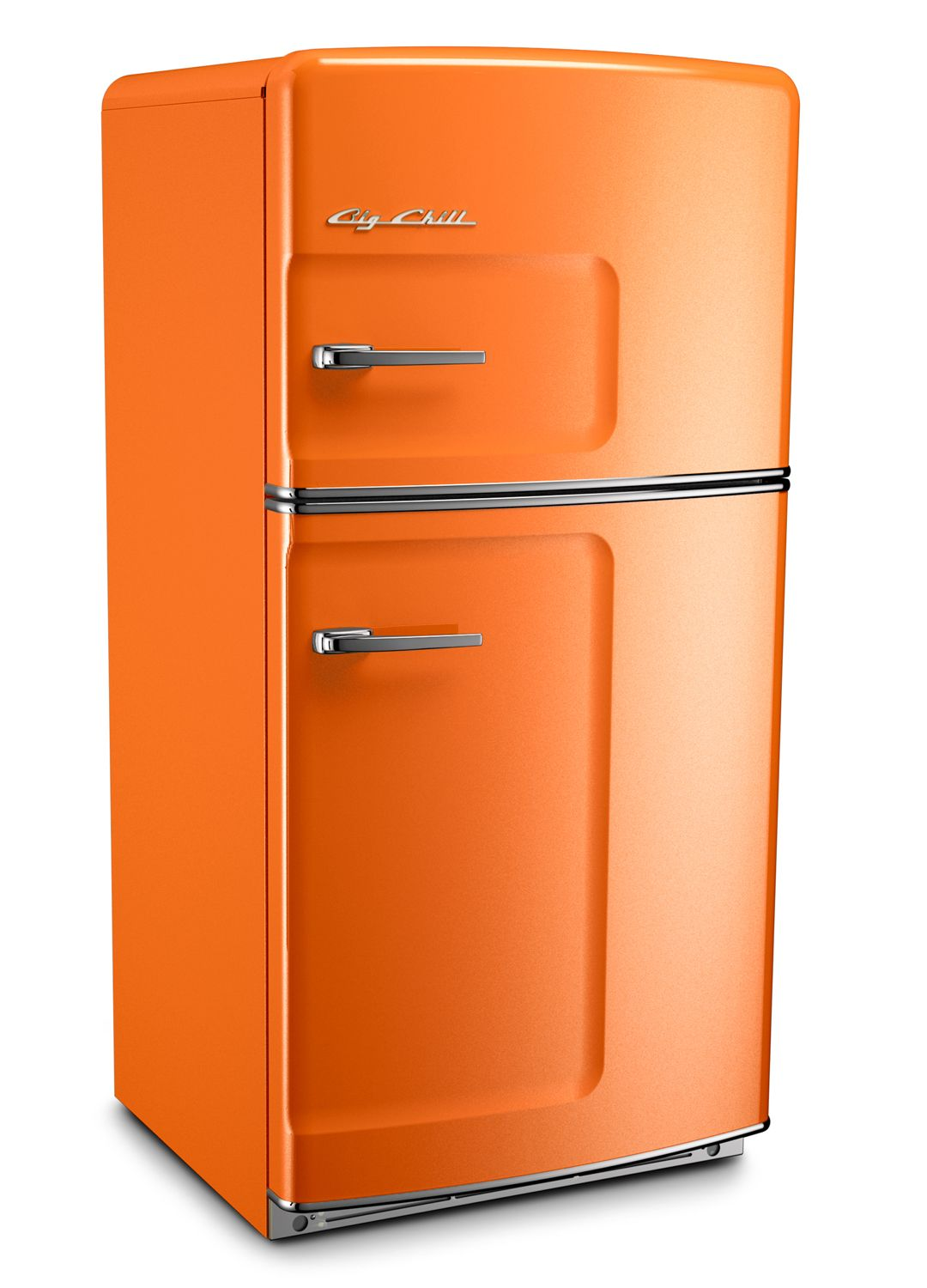 orange retro refrigerator by big chill orange pinterest. Black Bedroom Furniture Sets. Home Design Ideas