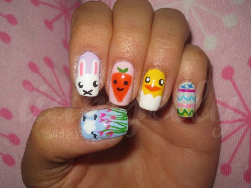 Easter nails xxx | Nail art design images which I like xx | Pinterest