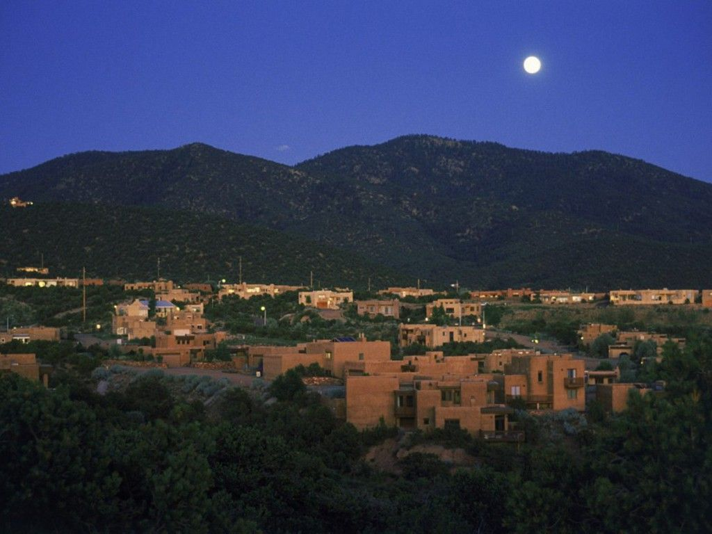 moon over santa fe new mexico pinterest. Black Bedroom Furniture Sets. Home Design Ideas