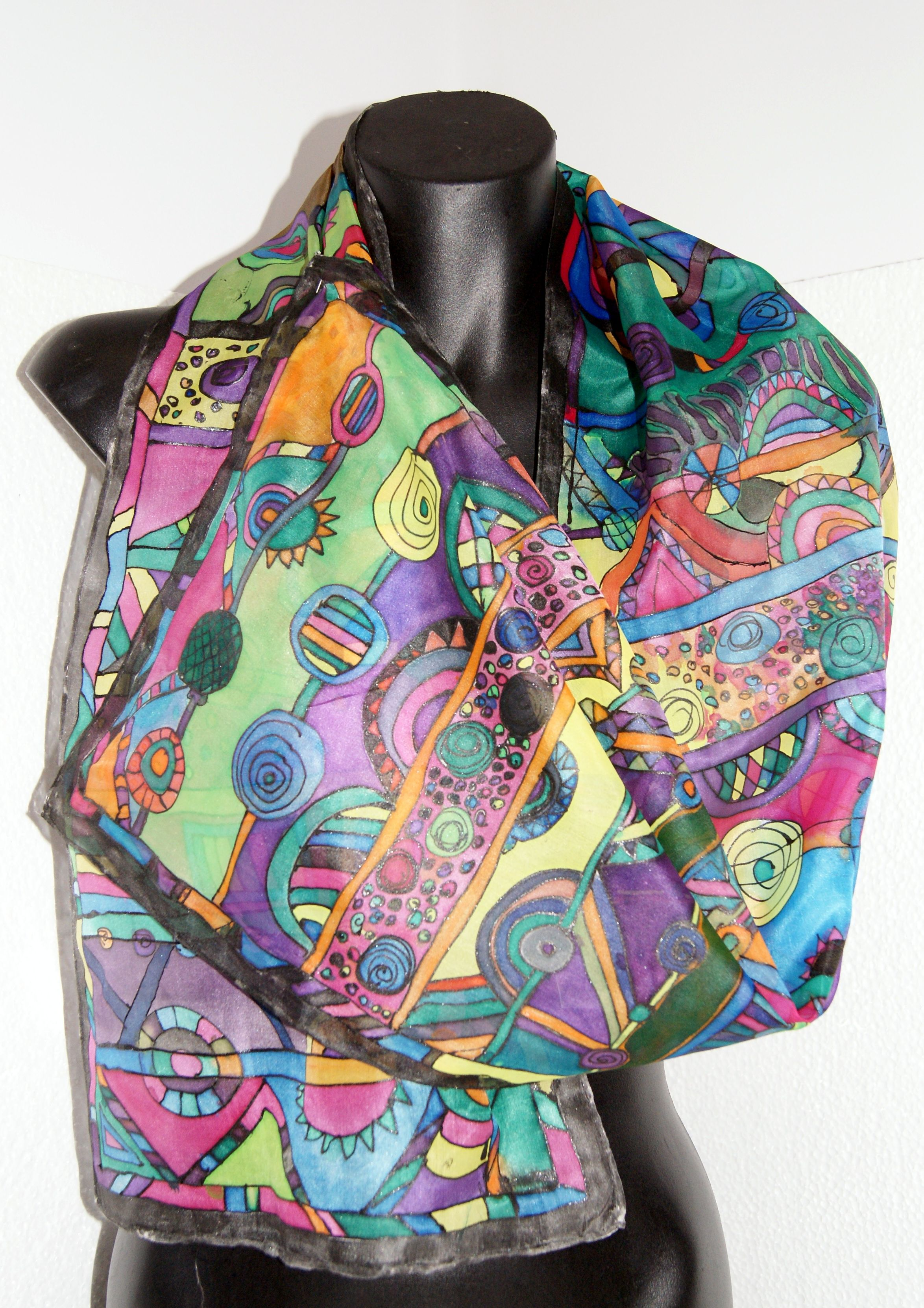 painted silk scarves paint fabric
