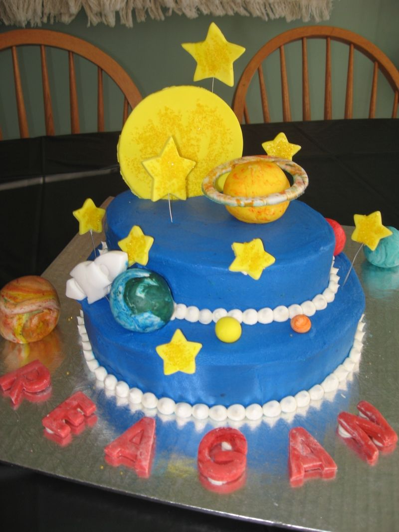 Space cake birthday party ideas pinterest for Outer space cake design