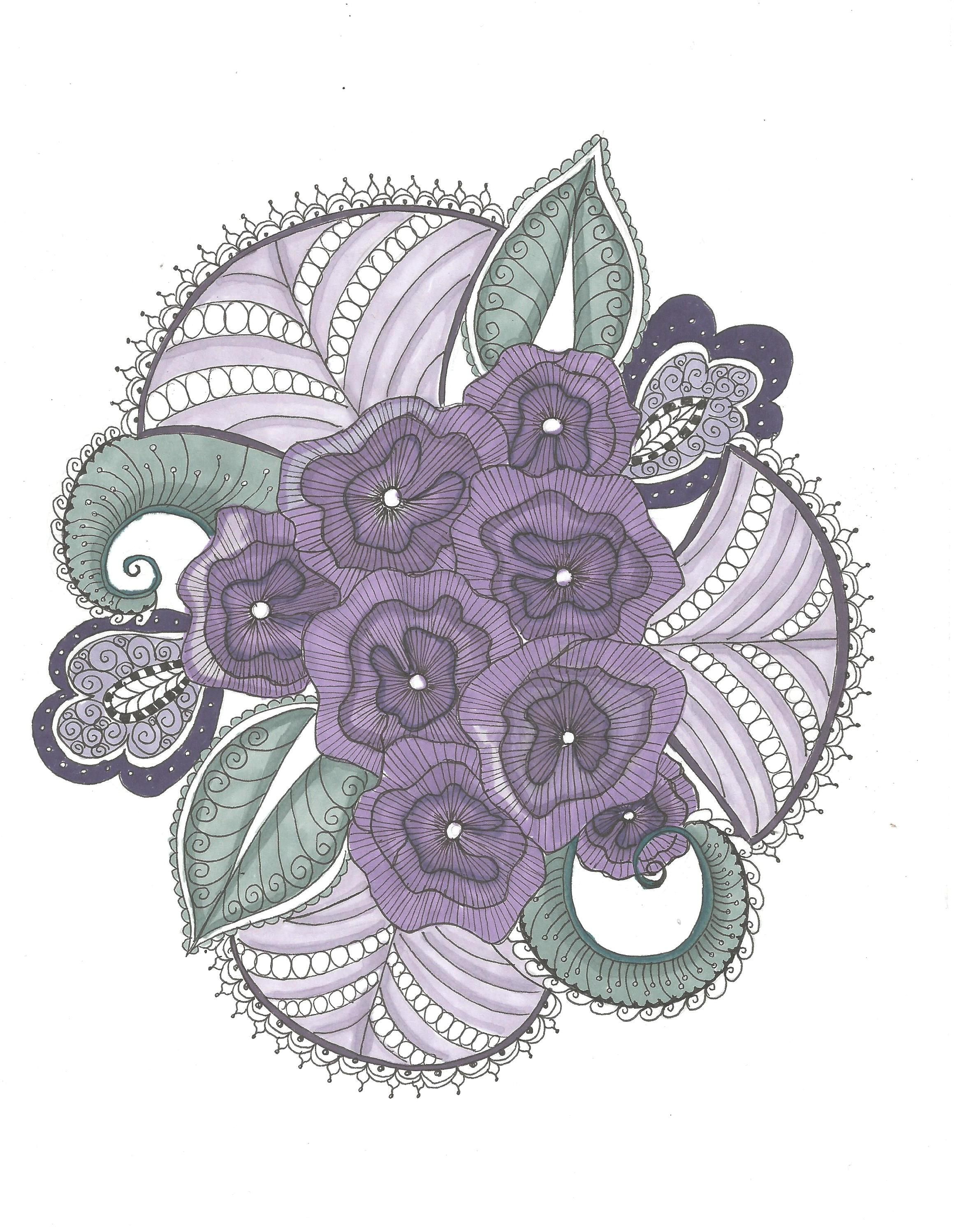 zentangle flowers My zentangle inspired art