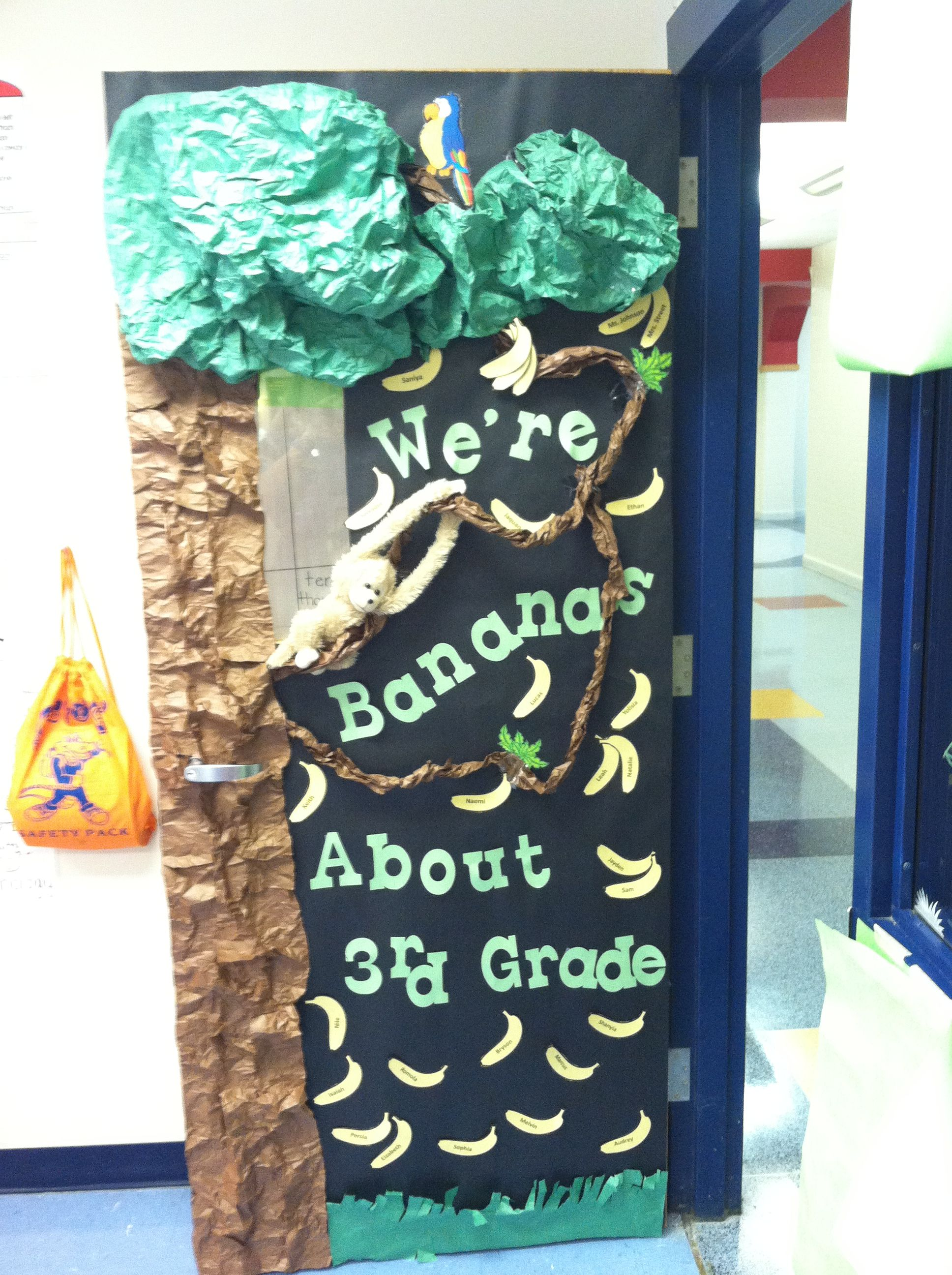 Classroom Decoration Jungle Theme : Classroom door jungle theme school pinterest