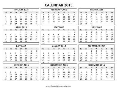 Blank 12 Month Calendar Template – Printable Editable Blank