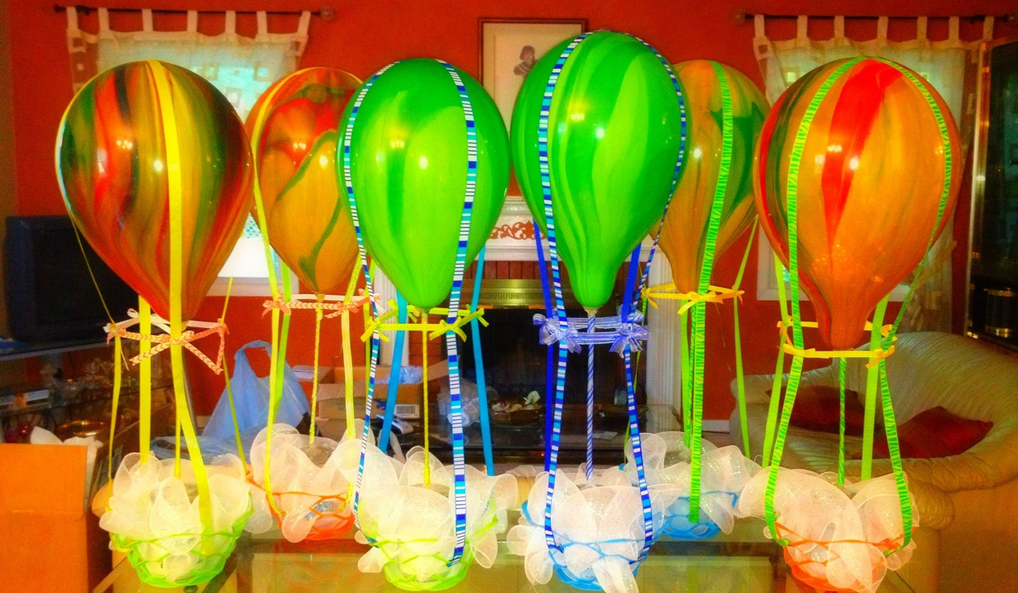 Hot Air Balloon Centerpieces Butterfly Decorations