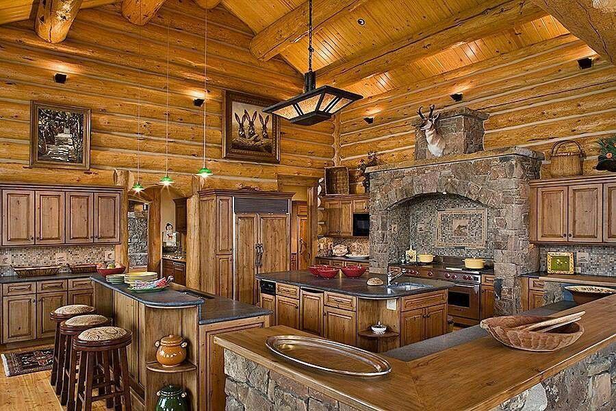 Log Cabin Living Log Homes Pinterest