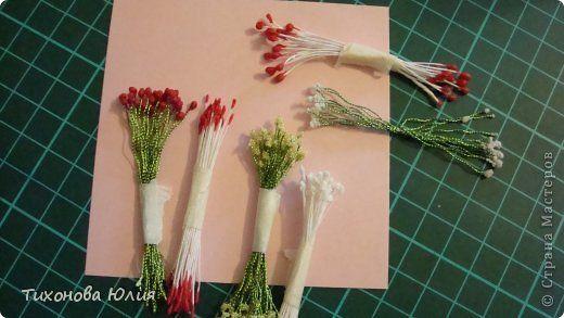 Тычинки из ниток для цветов