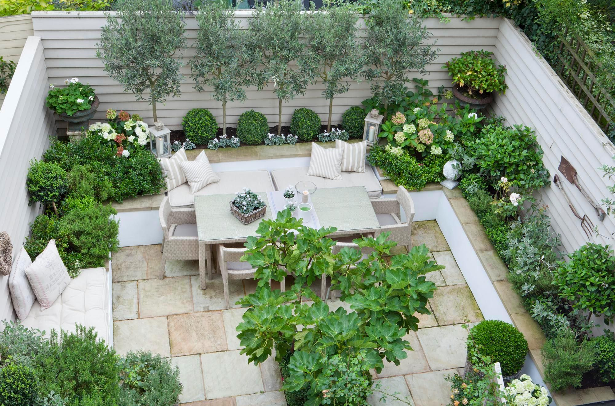 Nice terrace small garden inspiration pinterest for Nice small trees