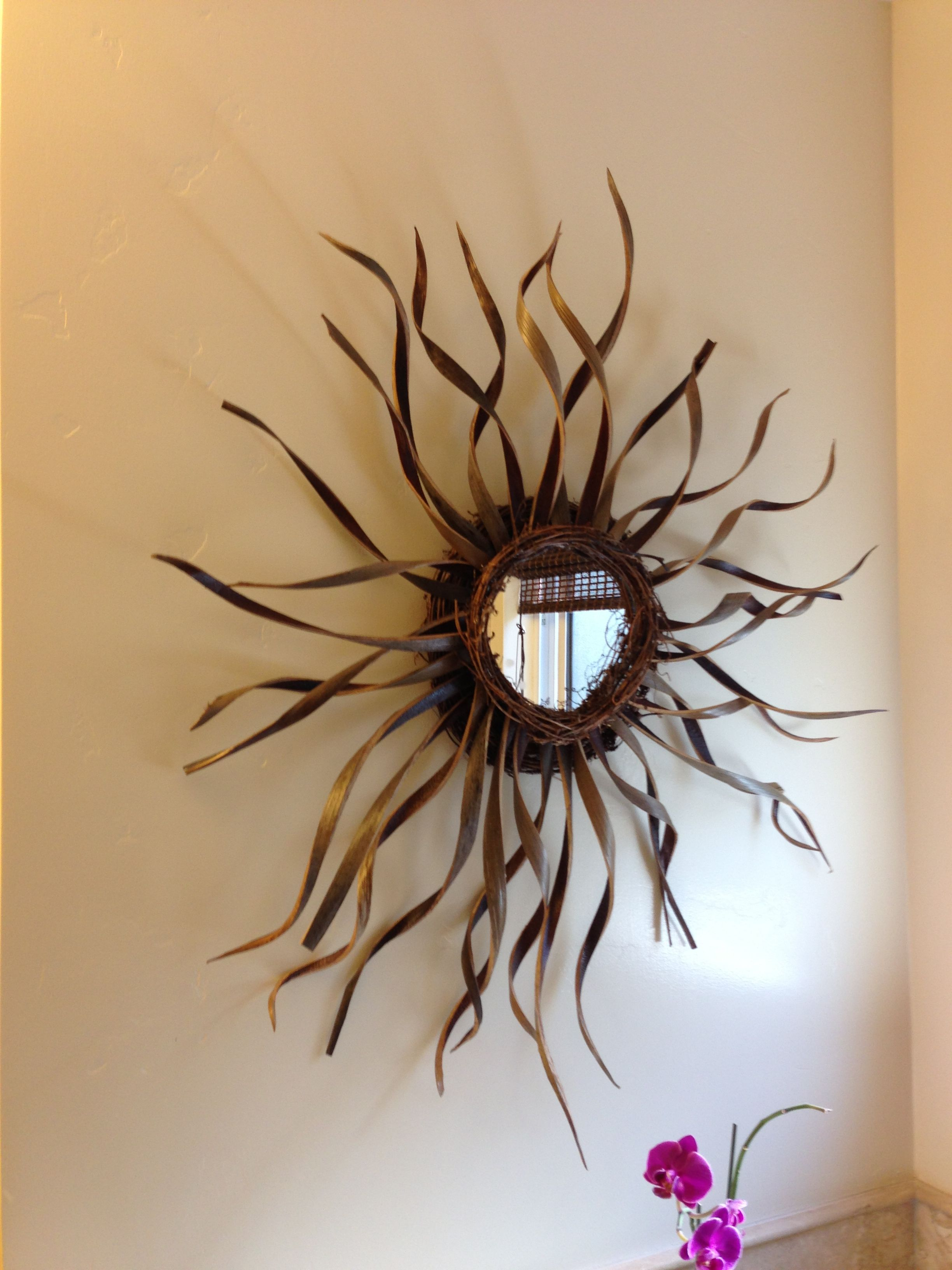 Sunburst mirror wall decor wall things pinterest for Sunburst wall art