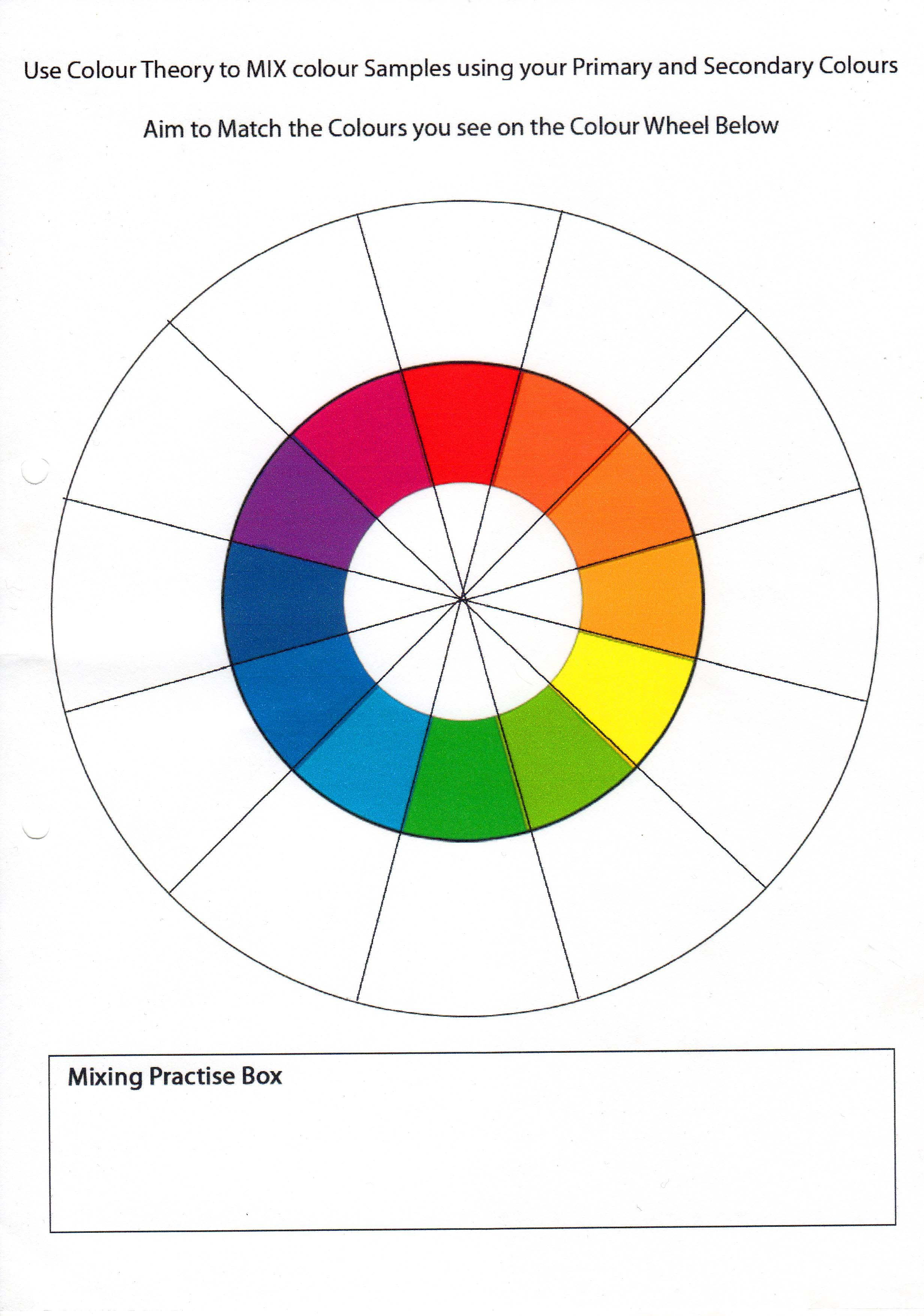 Color Wheel Worksheet Pictures to Pin on Pinterest - PinsDaddy