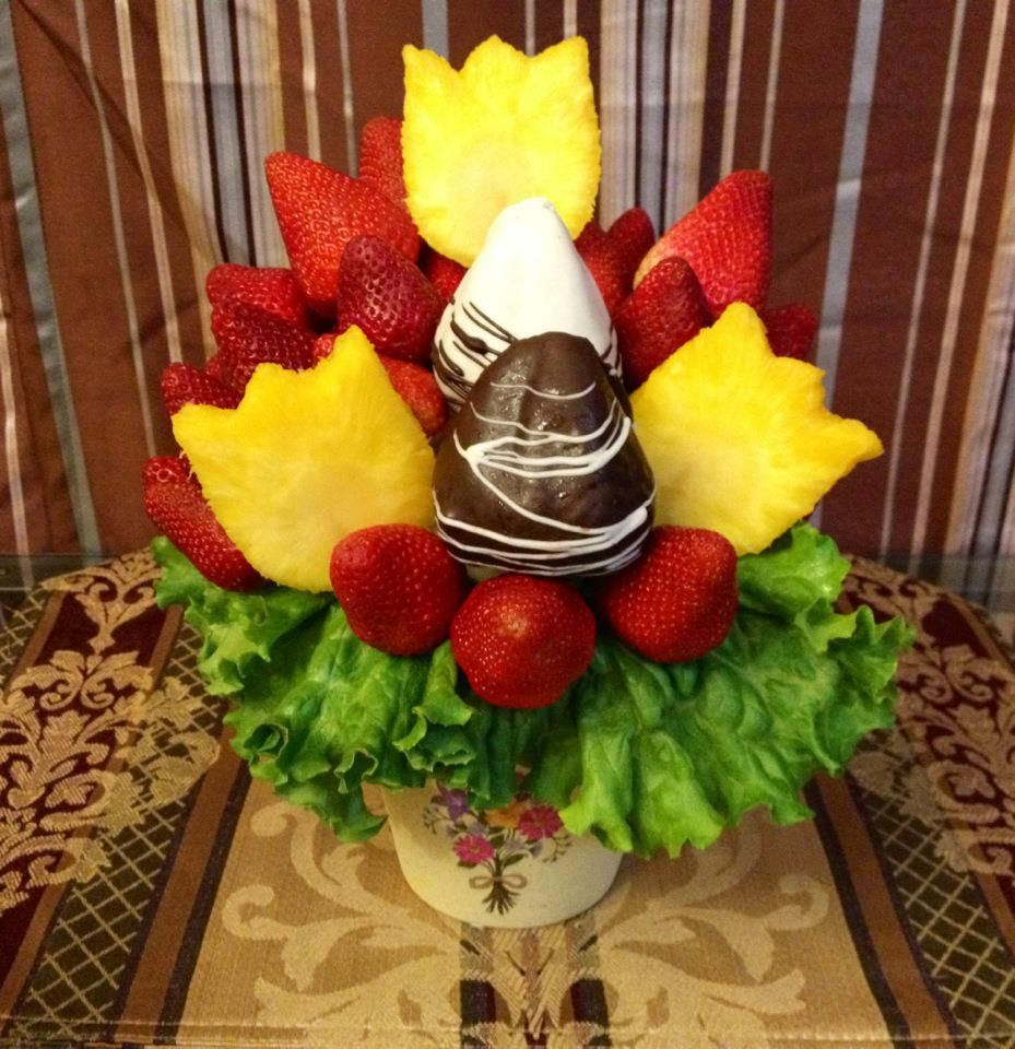 Fruit bouquet i made for mother 39 s day fruit bouquets Fruit bouquet