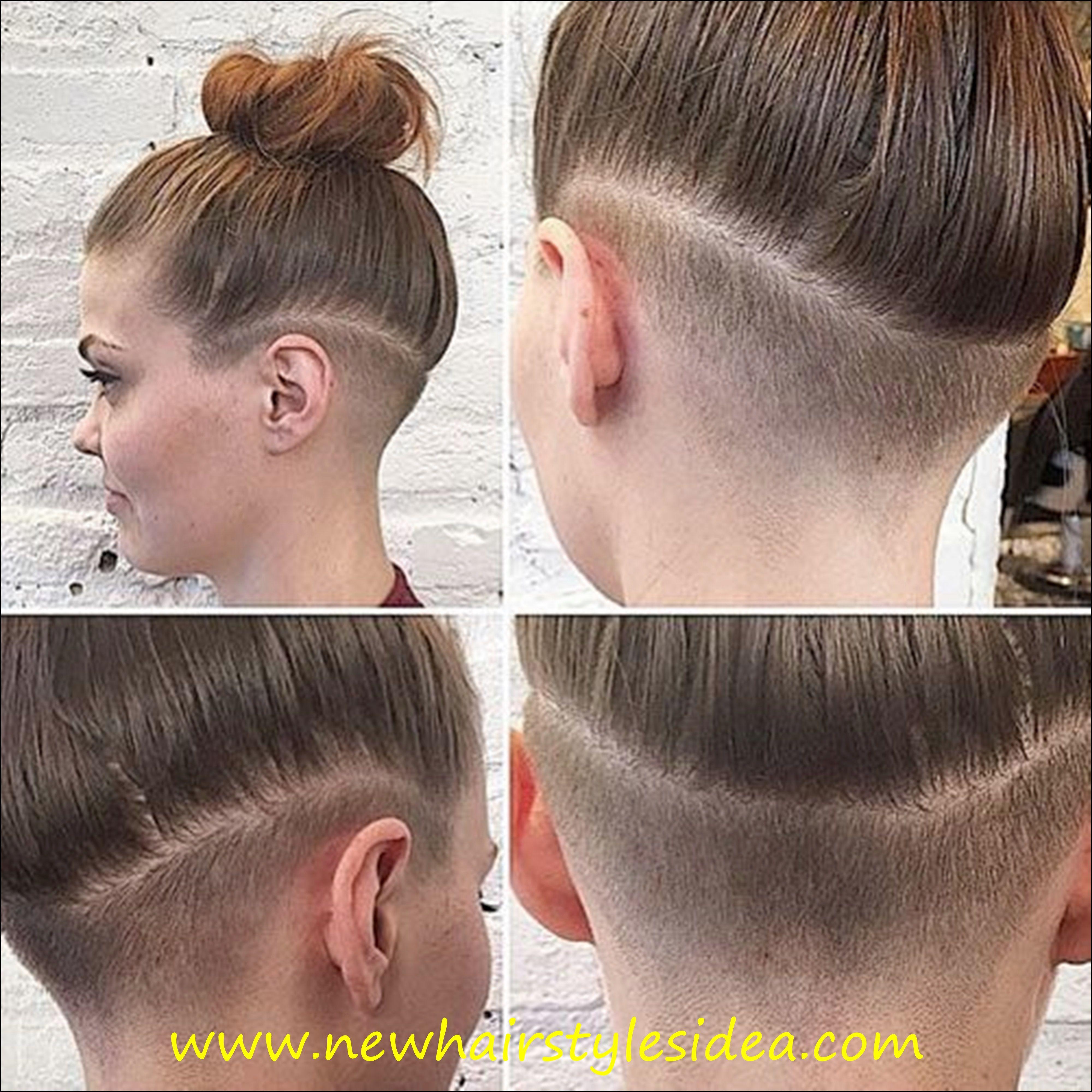 Прическа длинные волосы виски сбриты