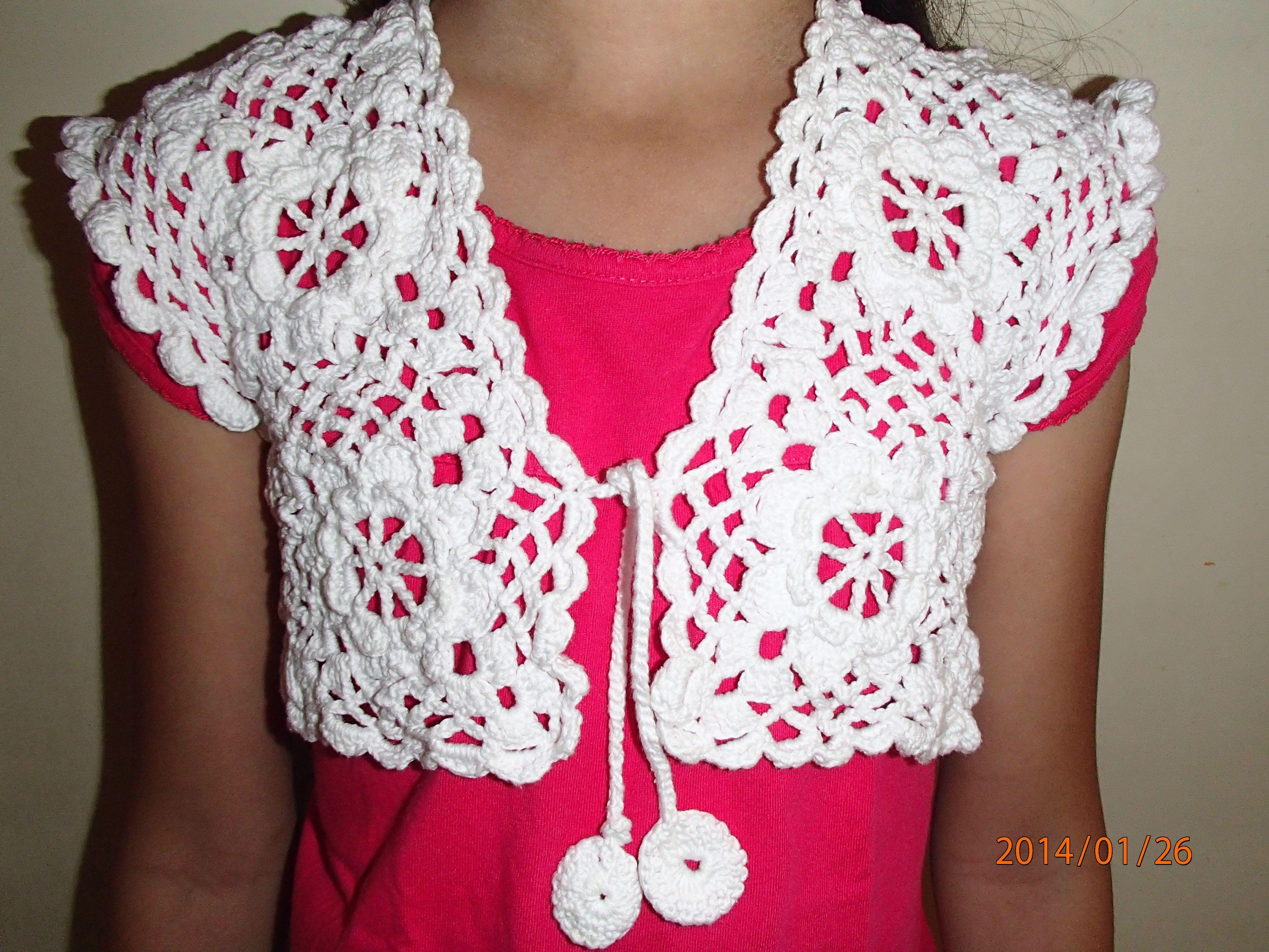 Crochet bolero for 7 years old girl Crochet Pinterest