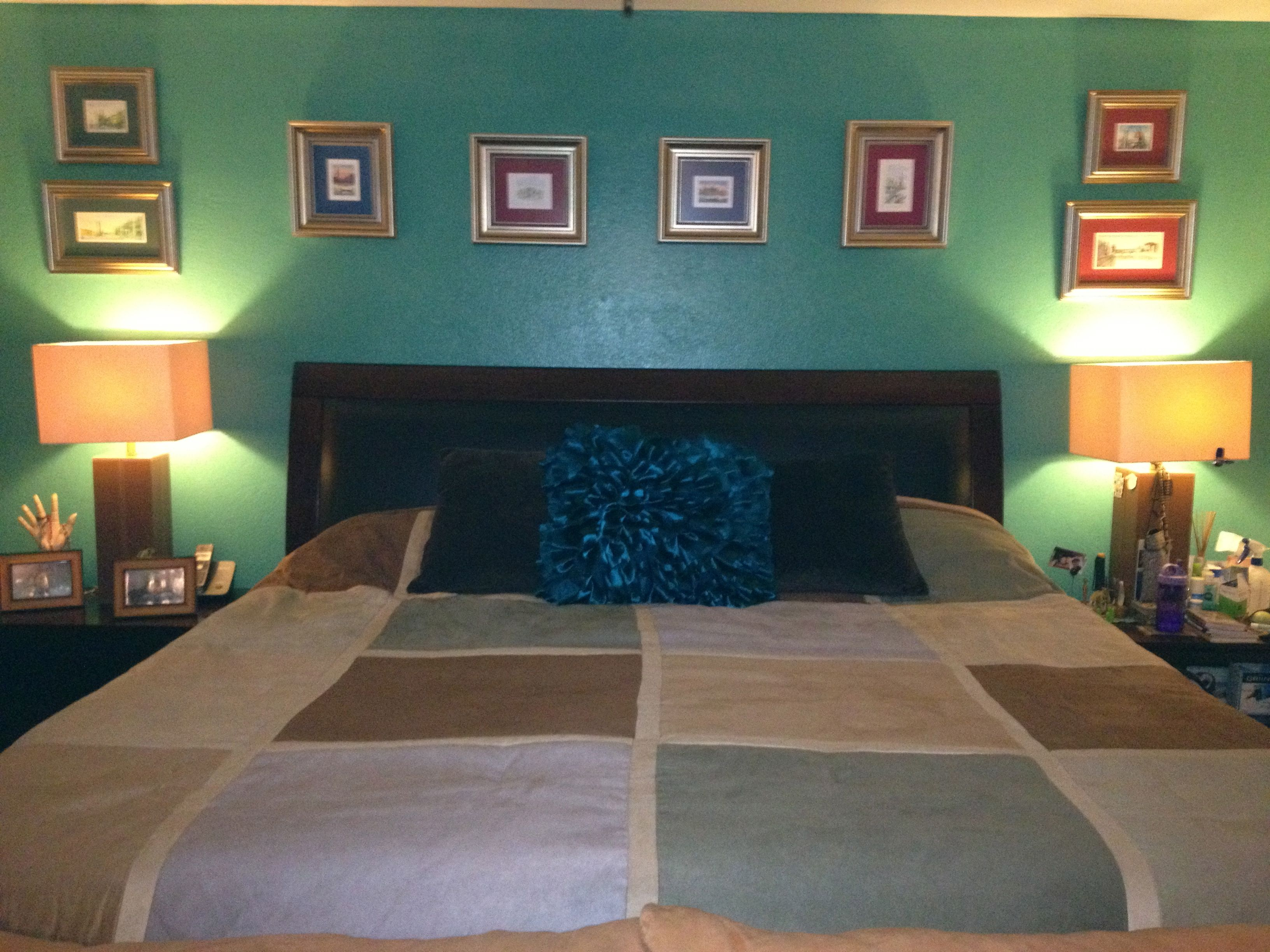 blue bedroom Tiffany