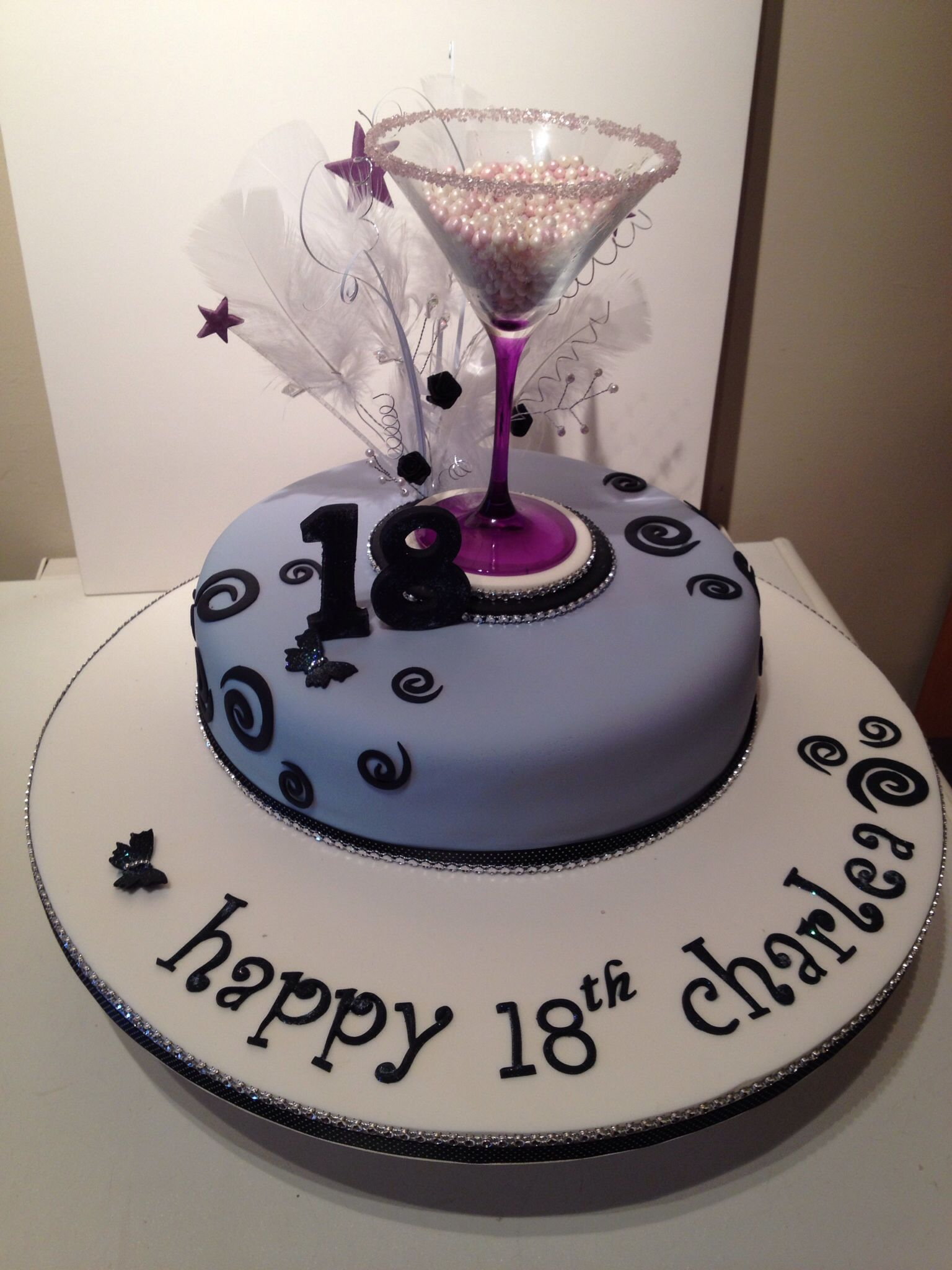 Pin 18th birthday cakes for girls cake ideas a girl cake for 18th cake decoration