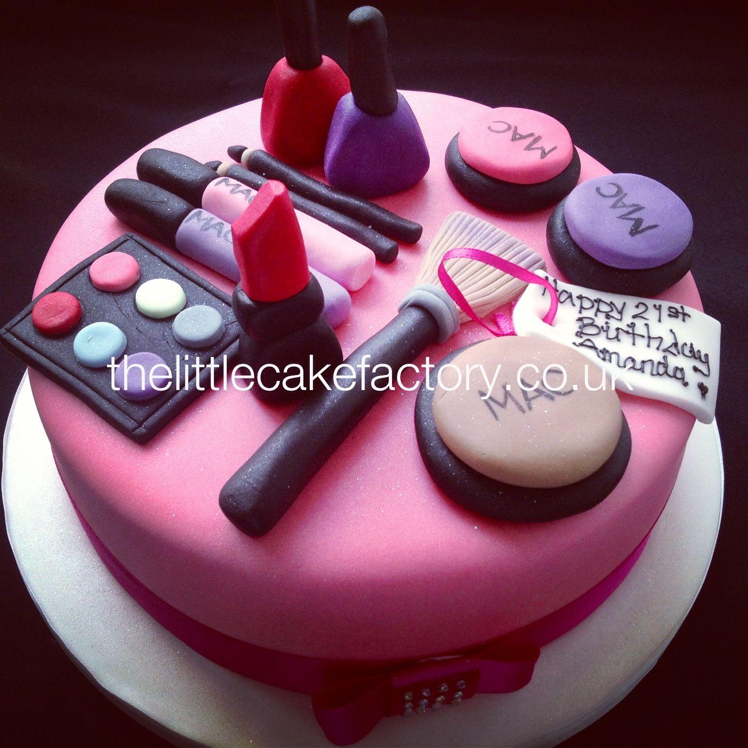 Makeup Cake Decorations : Mac Make Up Cake #mac #makeup #cosmetics Cake decorating ...