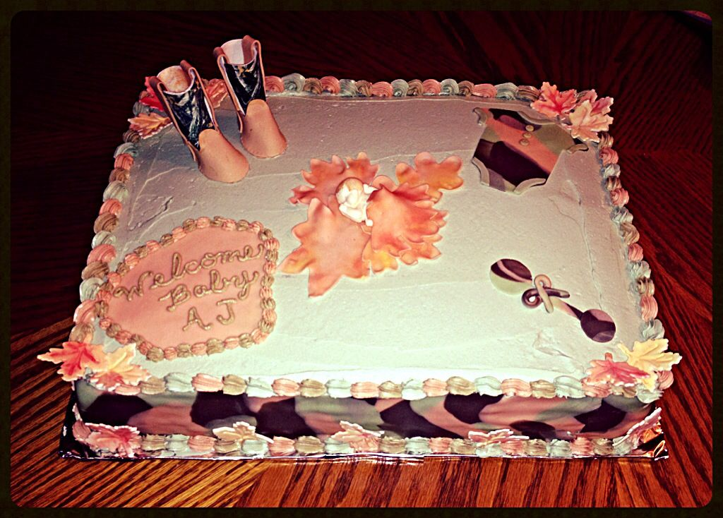 camo baby shower cake baby kids pinterest