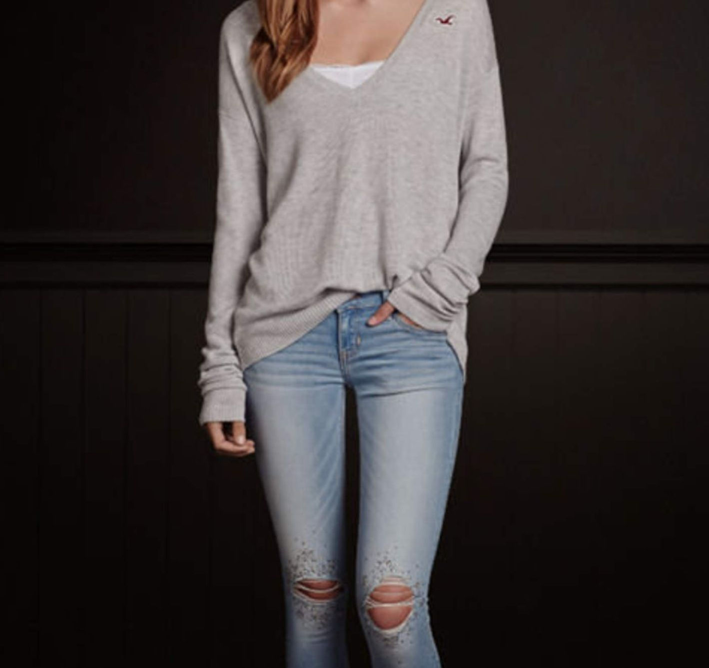 The gallery for --u0026gt; Girls Hollister Jeans
