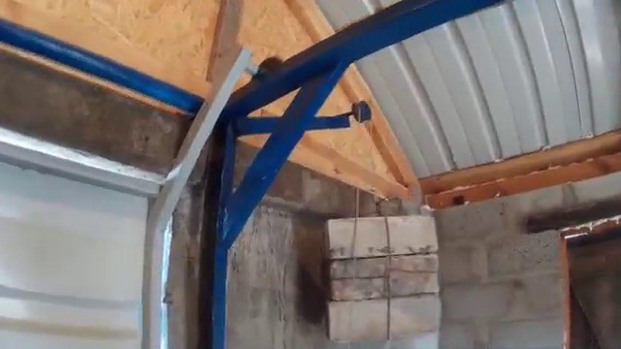 Подъемные гаражные ворота видео своими руками