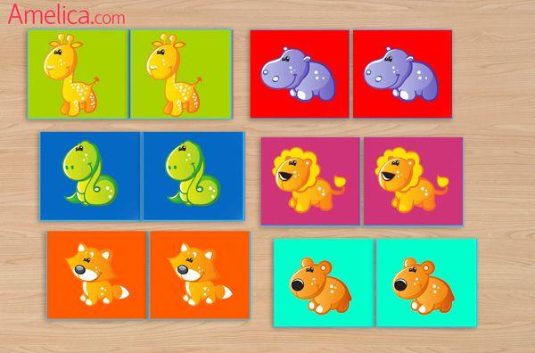 игра мемори для детей, дидактические игры для малышей, мемори своими руками Лото Pinterest Игры для малышей, Для малышей и Игра