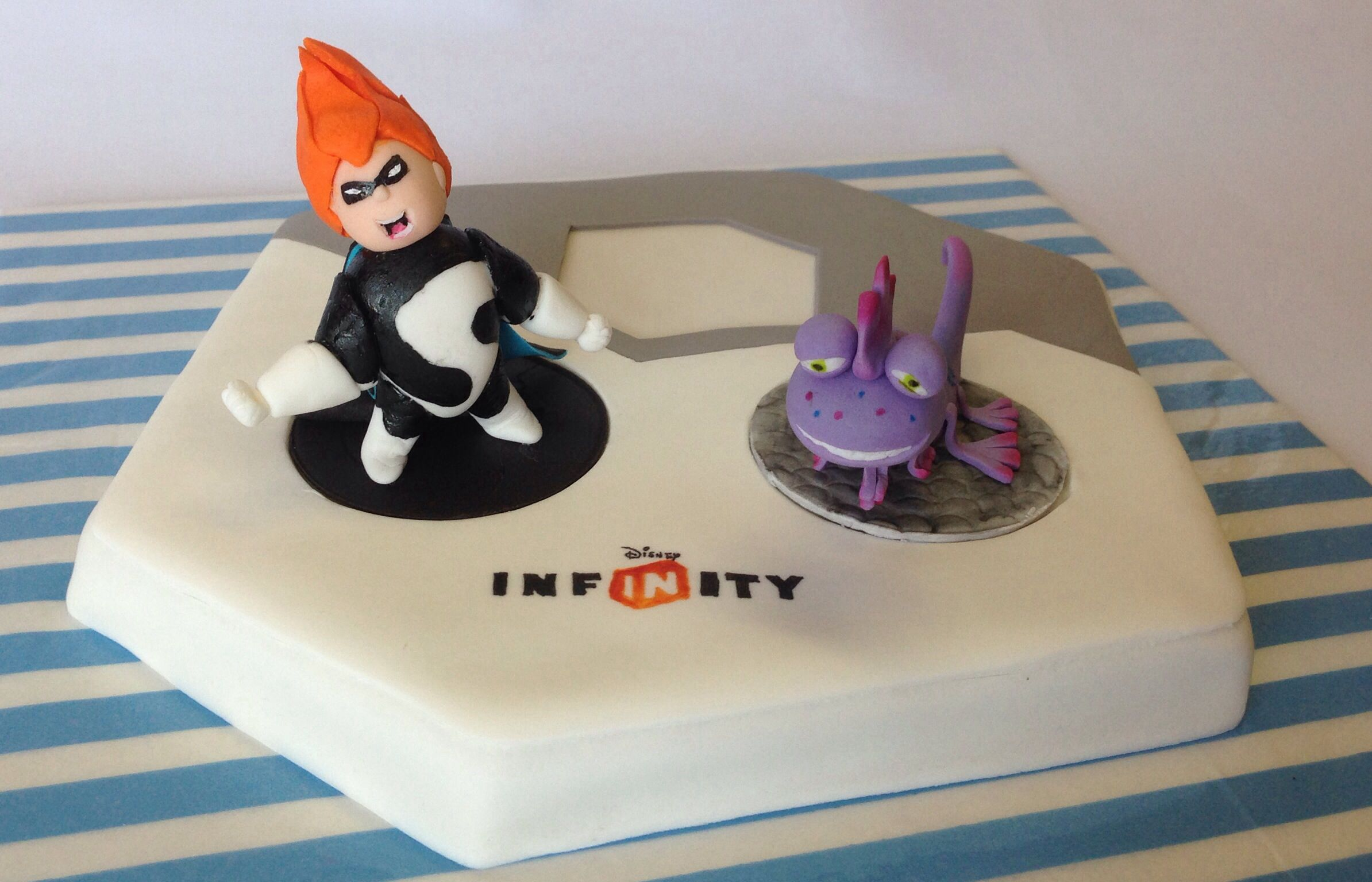 Disney Infinity cake with edible toppers CAKE DECORATING ...
