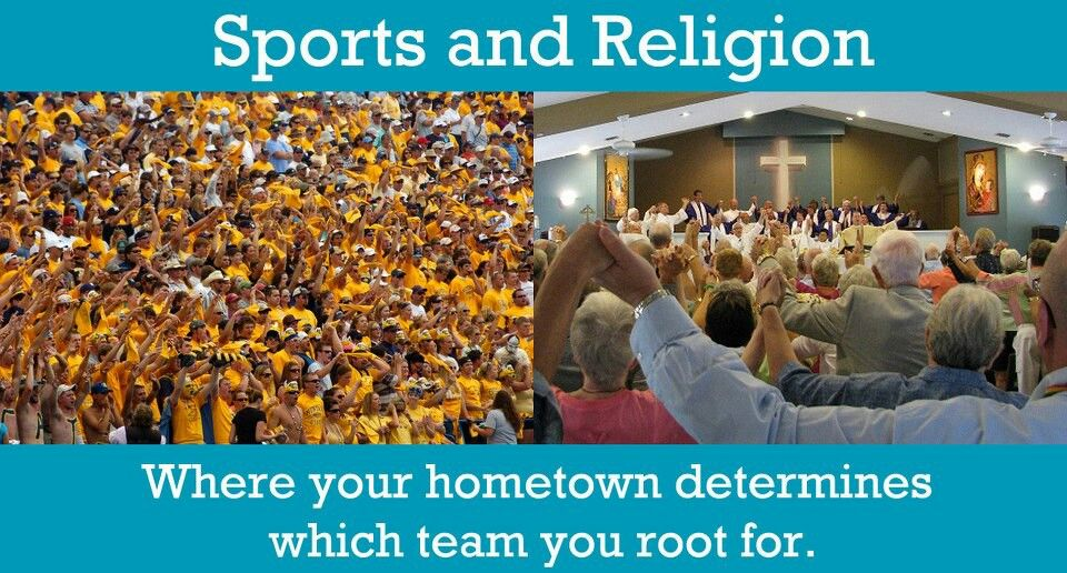 relationship of sports and religion