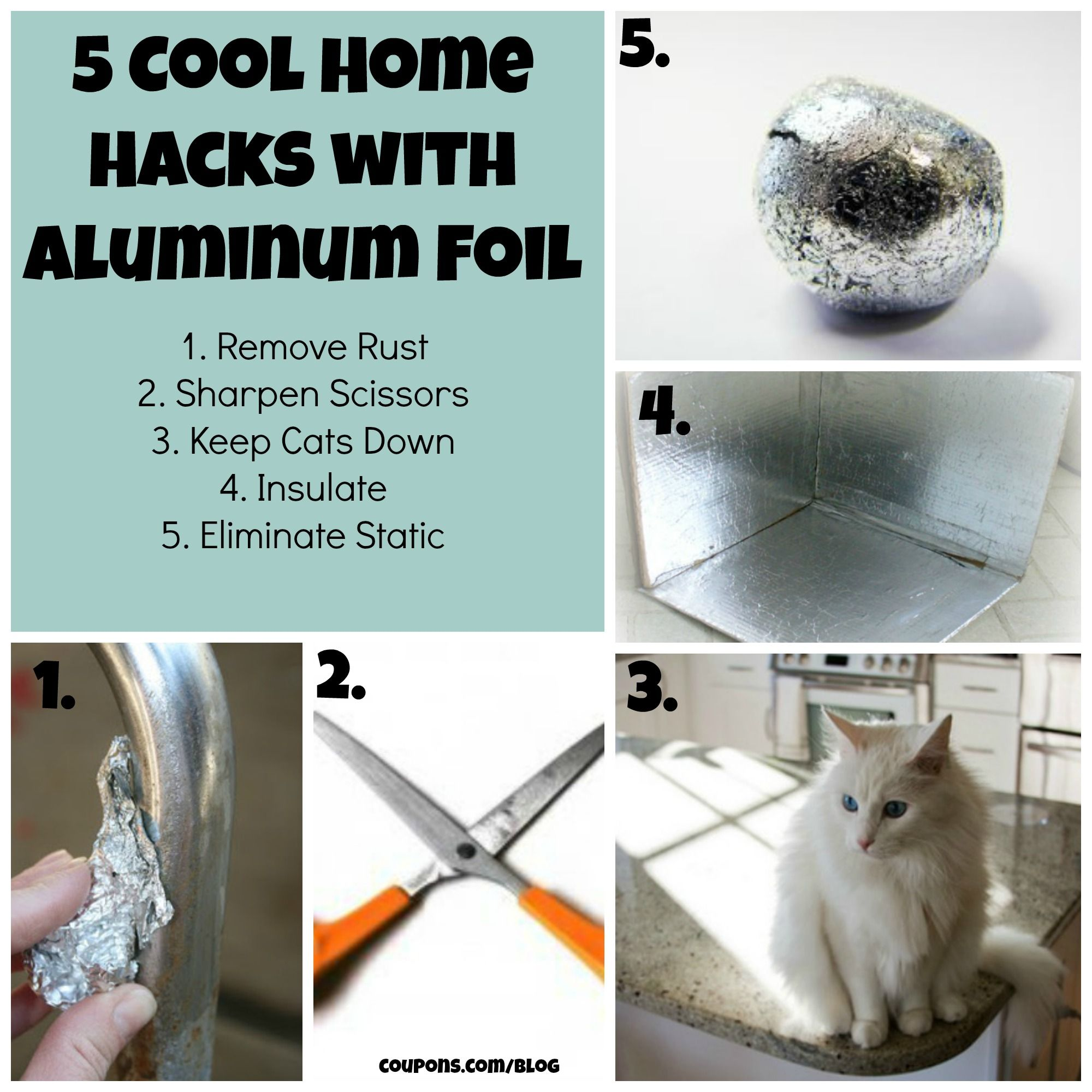 5 cool home hacks with aluminum foil clever tips pinterest Cool household hacks