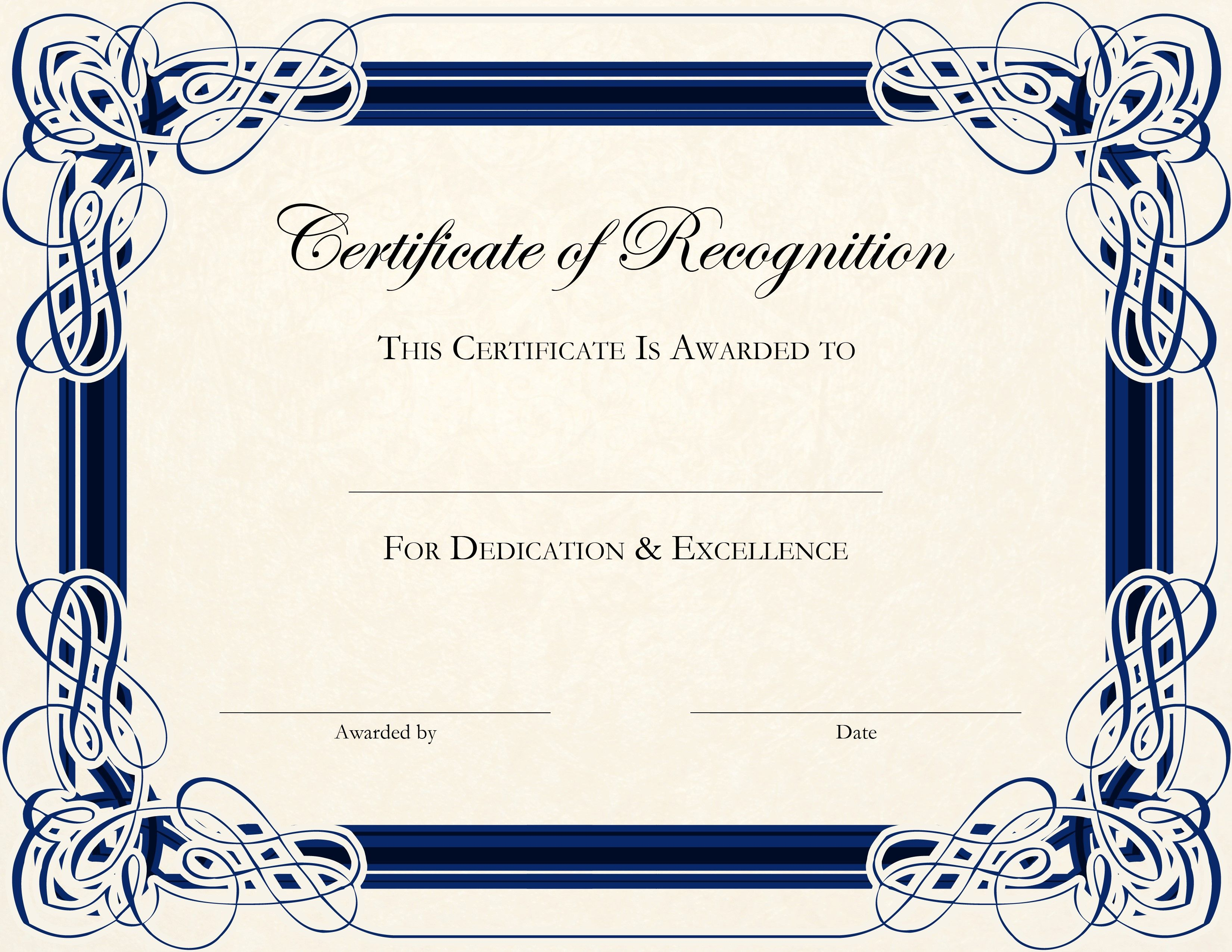 Doc27502125 Free Printable Certificate Templates Certificate – Certificates Free Download Free Printable