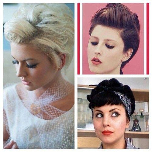 rockabilly hairstyles for short hair : Cute short rockabilly hair hair and make-up Pinterest