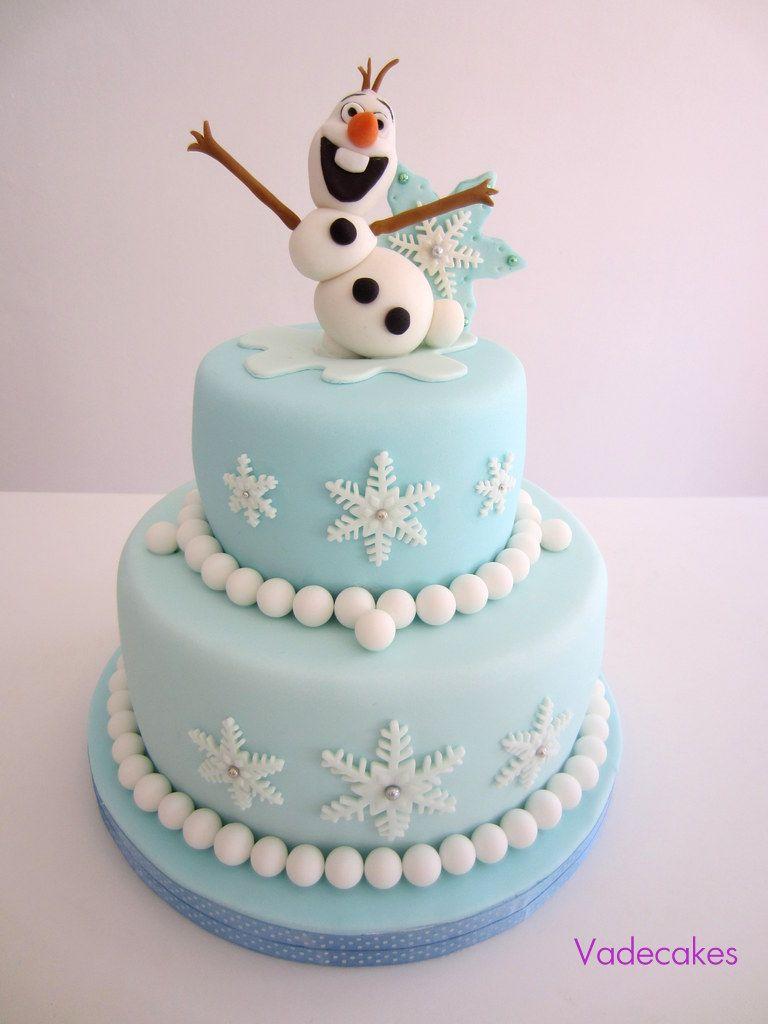 frozen olaf cupcake cake