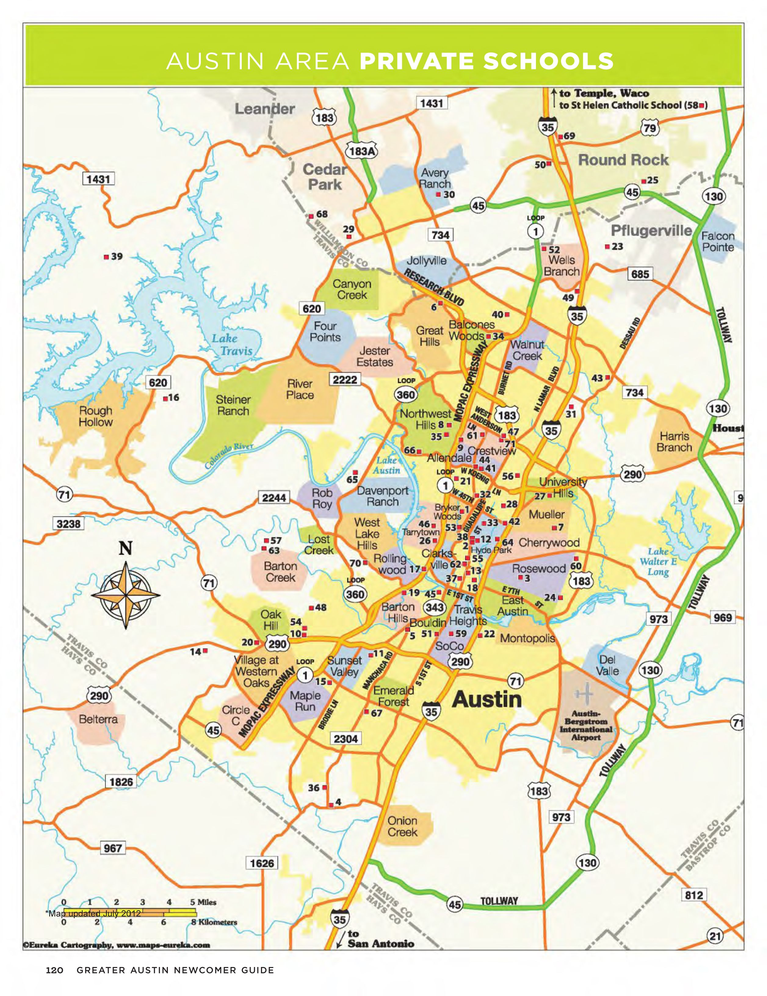 Austin area private schools, map view | more MAPS | Pinterest