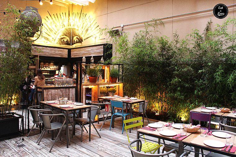 Terraza restaurante Saporem (Huertas, barrio de las Letras, Madrid)