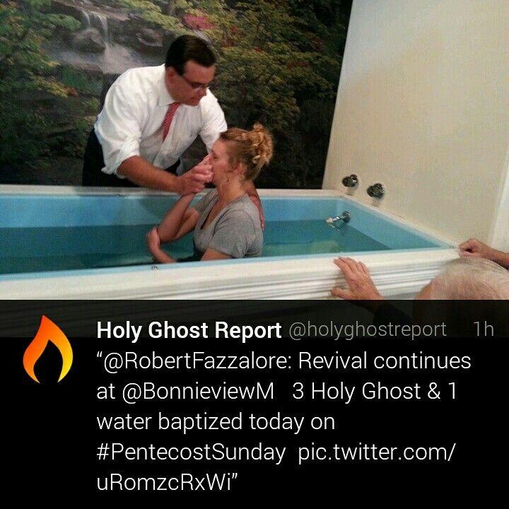 pentecostal baptism in water