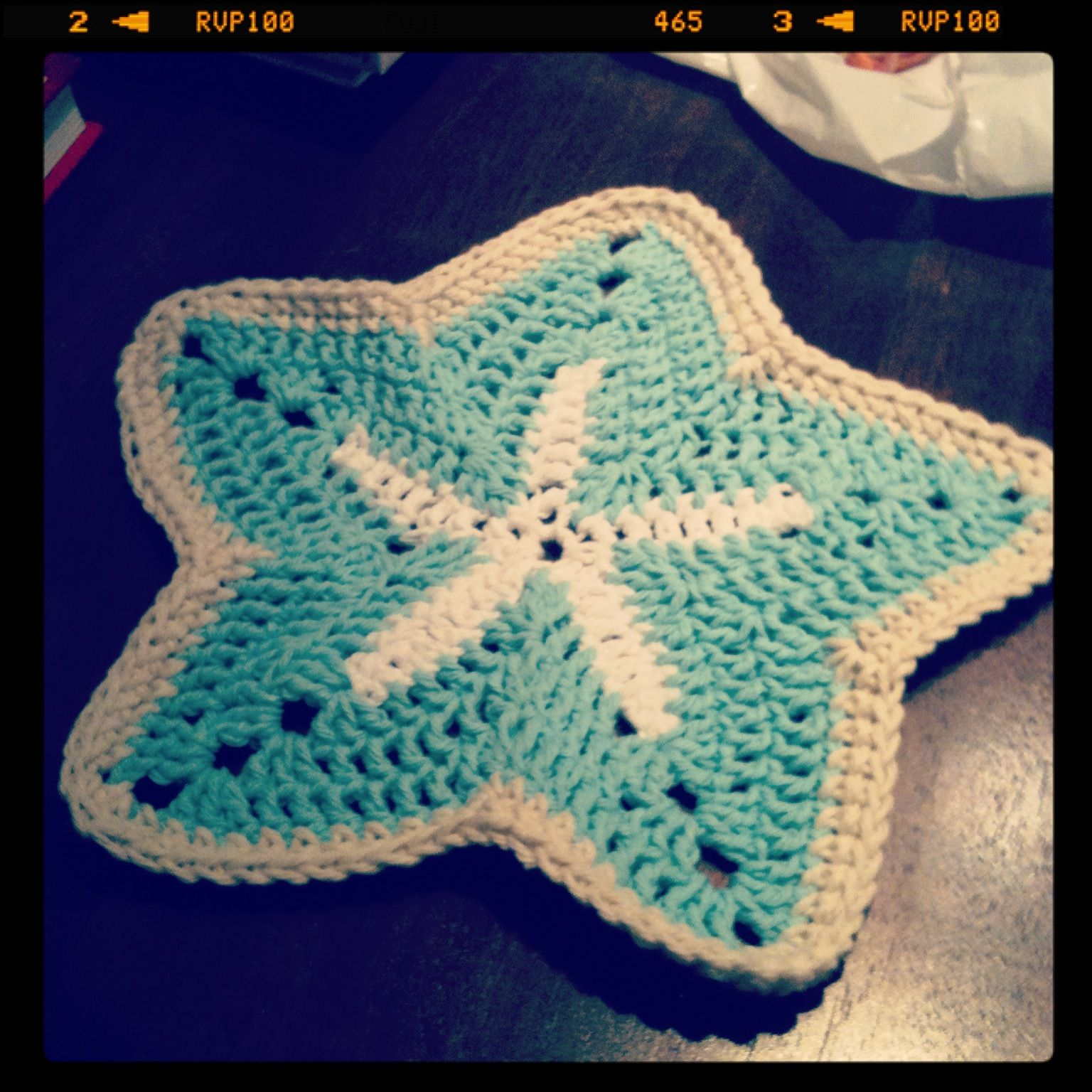 Free Crochet Starfish Dishcloth Pattern : Crocheted starfish dishcloth Crochet Pinterest