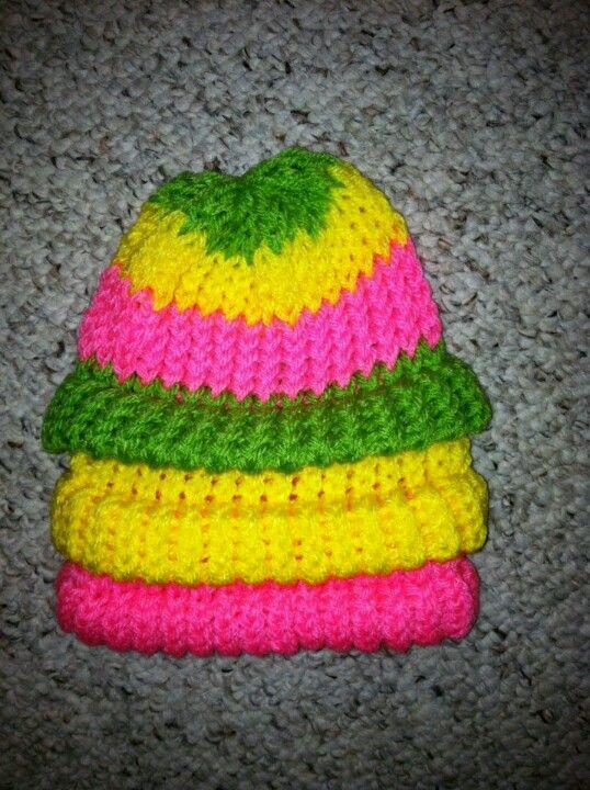 Stocking Knit Stitch On Loom : A loom knit stocking cap loom knitting Pinterest