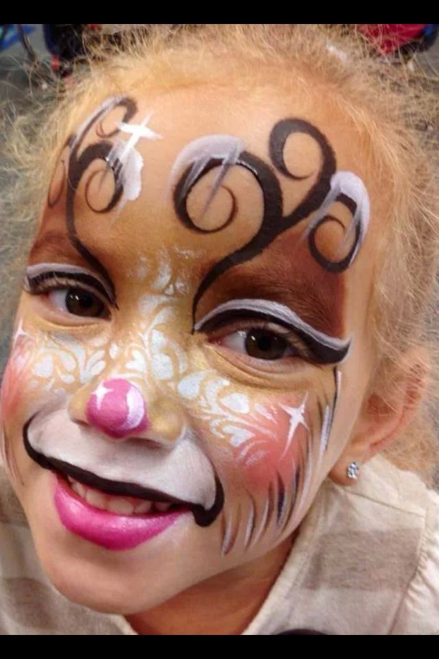 Cute reindeer design amazing face painting pinterest