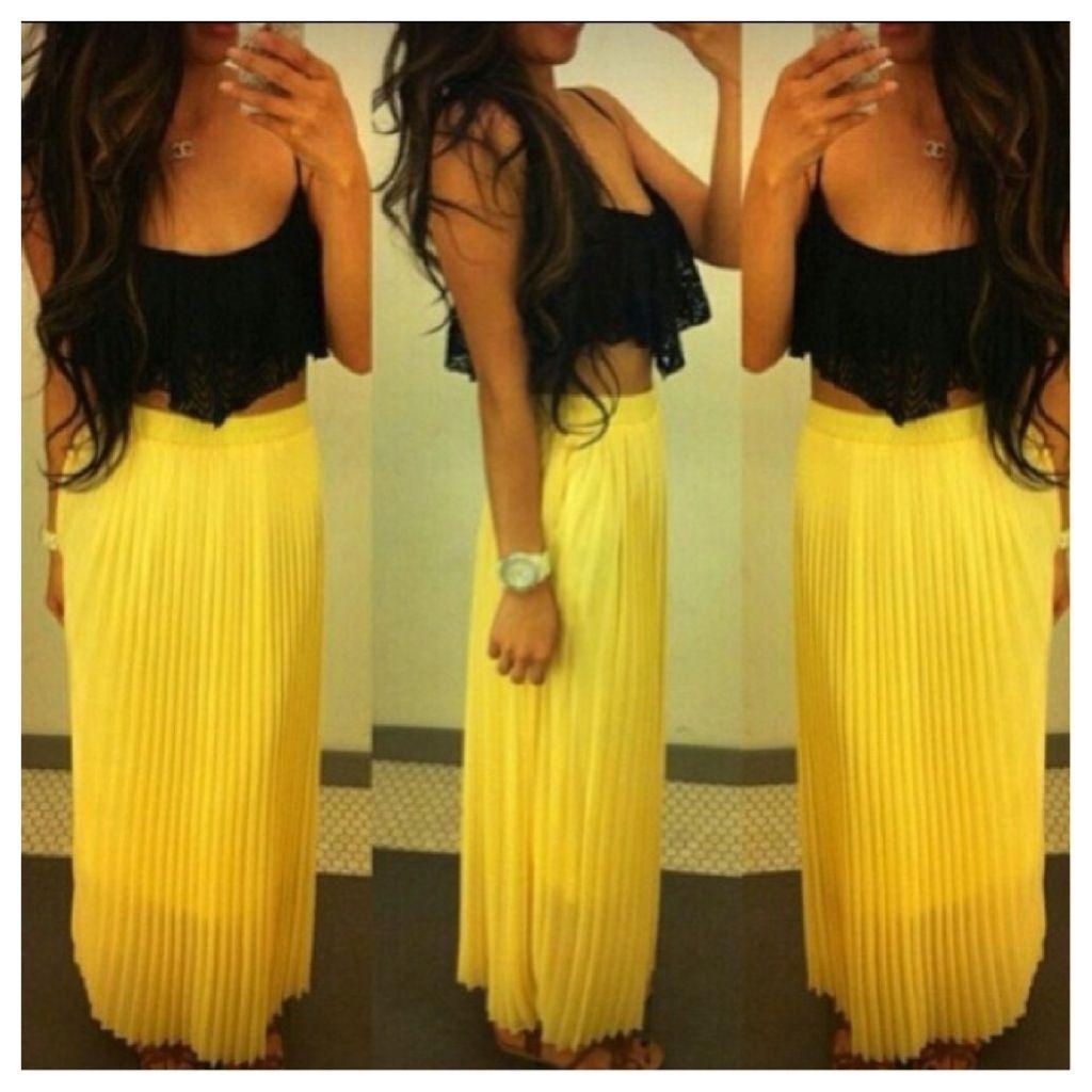 crop top maxi skirt fashionistaaaa