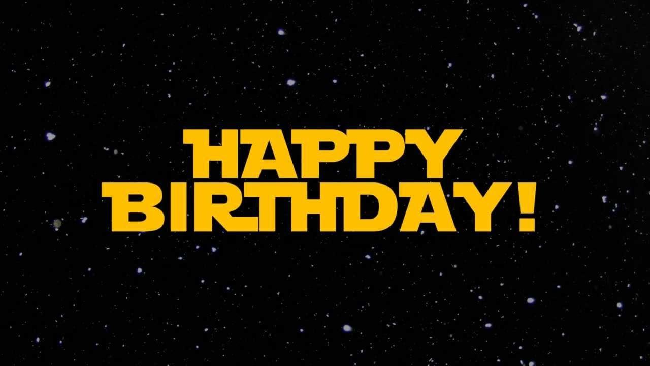 Поздравления с днем рождения от звездных войн