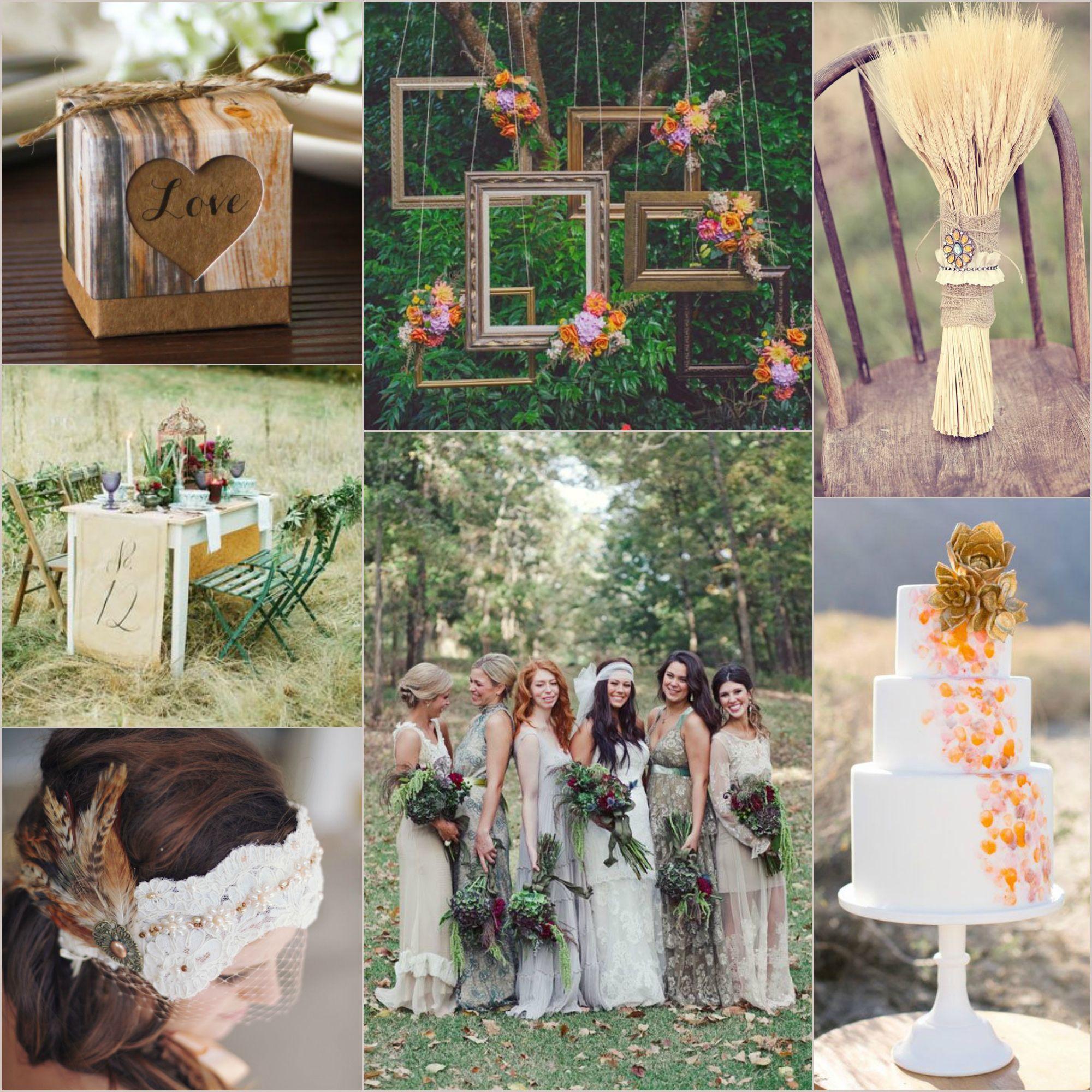 bohemian fall wedding inspiration station pinterest