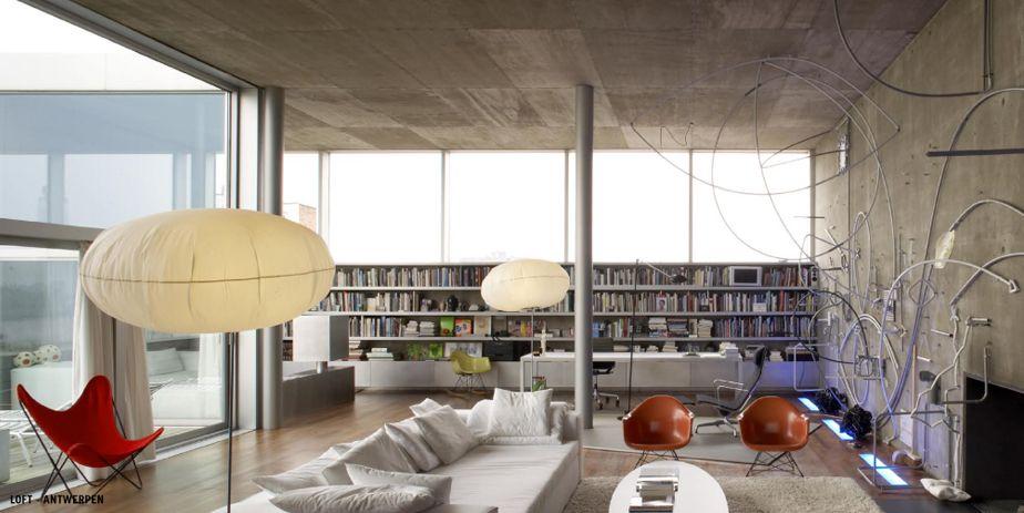 Loft in antwerpen interieur woonkamer pinterest for Interieur antwerpen