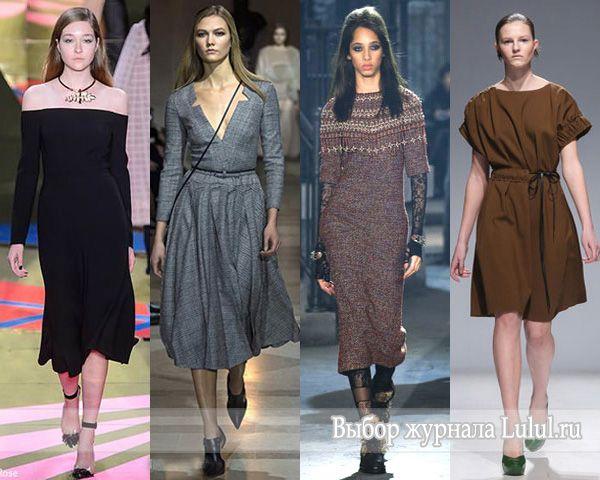 Модные платья 2017 года зима