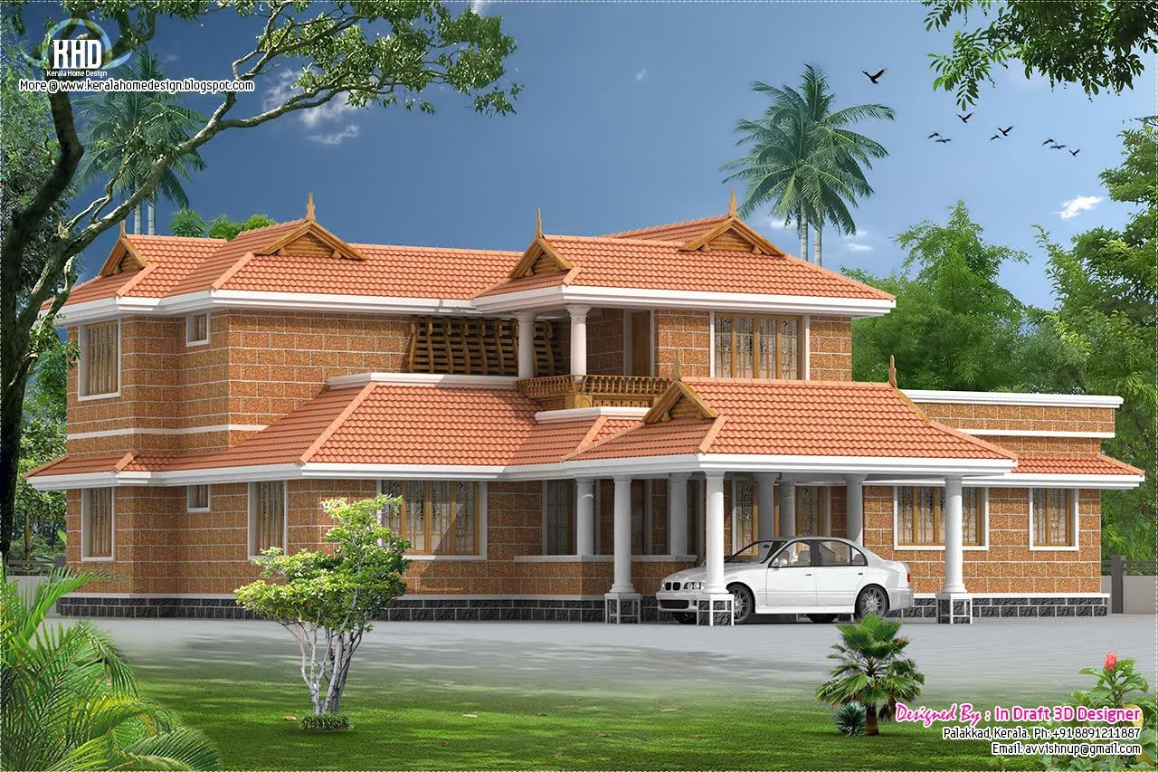 Elevation traditional house plans pinterest for Home designs pinterest