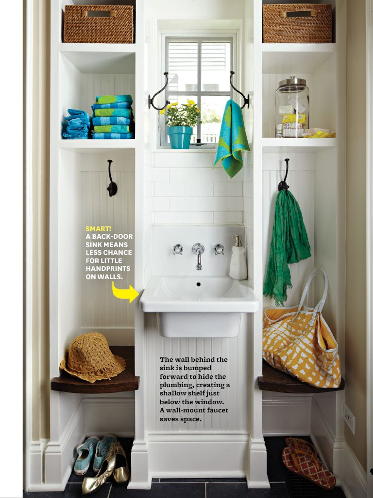 Mudroom - love the sink laundry, utility & mud rooms Pinterest