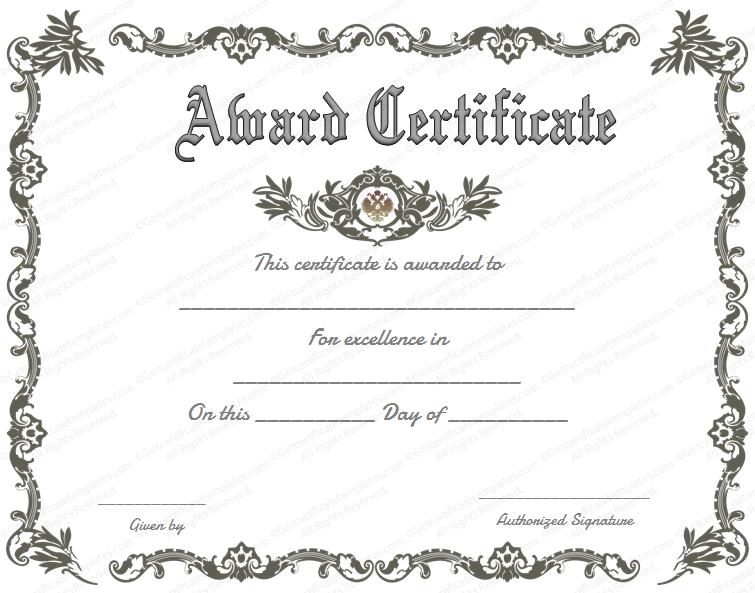 free funny award certificate templates   trattorialeondoro
