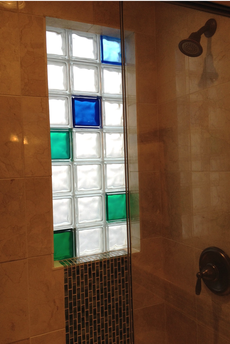 Glass block windows for bathrooms