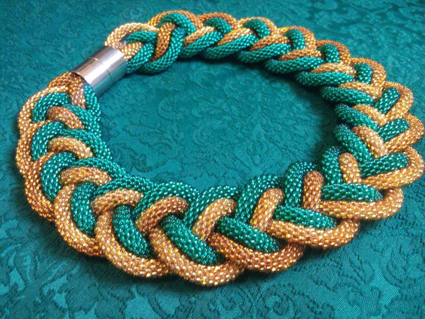 Вязание бисером жгуты