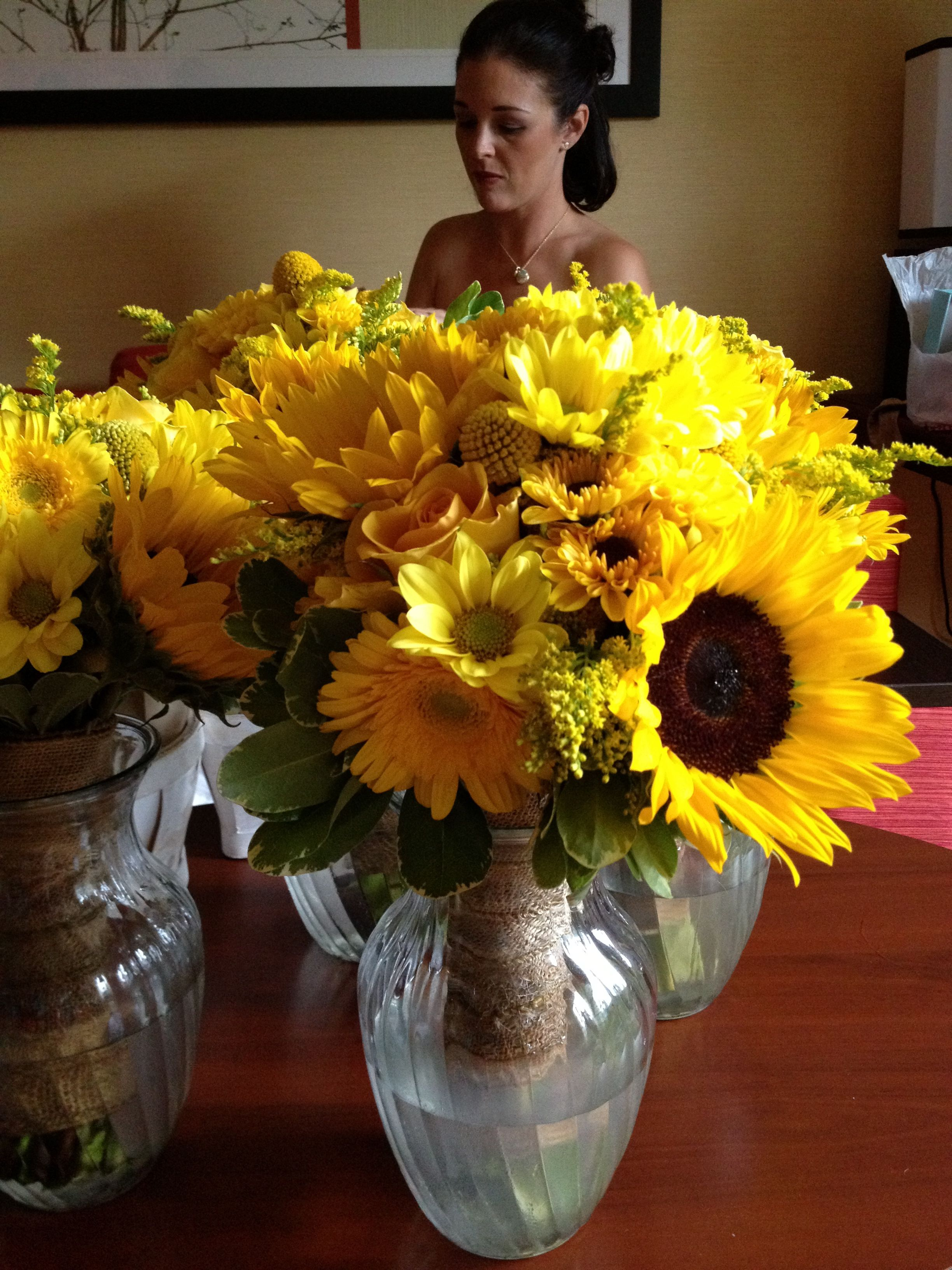 Bridesmaid Bouquets Sunflowers : Sunflower wedding bouquets flowers
