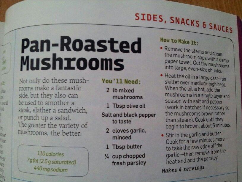 Pan-Roasted Mushrooms   What's Cooking Good Looking?   Pinterest